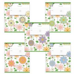"""Тетрадь 12 л., ERICH KRAUSE, клетка, обложка мелованный картон, """"Fleur design"""" (""""Цветы"""")"""