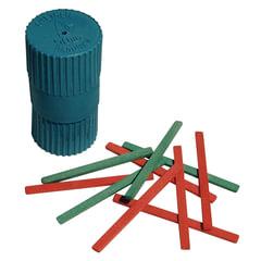 Счетные палочки (50 штук) двухцветные, из натурального дерева, в пластиковом тубусе