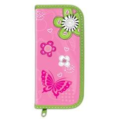 """Пенал BRAUBERG (БРАУБЕРГ), 1 отделение, для учениц начальной школы, ламинированный картон, """"Розовые цветы"""", 19х9 см"""