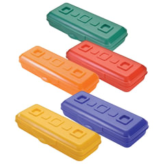 """Пенал СТАММ """"Премиум"""", пластиковый, непрозрачный, цвет ассорти"""