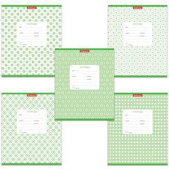 """Тетрадь 12 л., ERICH KRAUSE, клетка, обложка мелованный картон, """"Горошек зеленый"""""""