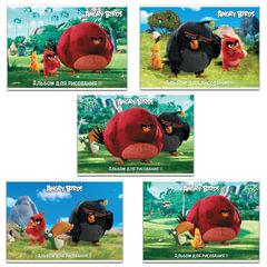 """Альбом для рисования """"ANGRY BIRDS"""" - (MOVIE), 32 л., обложка мелованный картон, 100 г/м2, HATBER"""