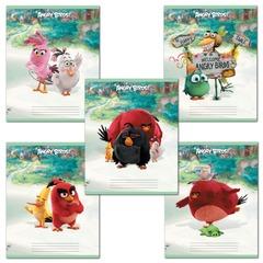 """Тетрадь """"ANGRY BIRDS"""" - (MOVIE), 12 л., клетка, обложка мелованный картон, HATBER"""