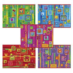 """Альбом для рисования, 12 л., HATBER VK, обложка офсет, 100 г/м2, """"Яркие краски"""" (5 видов)"""