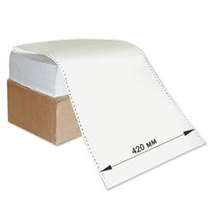"""Бумага с неотрывной перфорацией, 420х305 (12"""") х 1500 л., плотность 60 г/м2, белизна 93%"""
