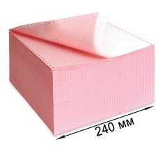 """Бумага с отрывной перфорацией, самокопирующая, цветная, 240х305 (12""""), 2-х слойная (900 комплектов)"""