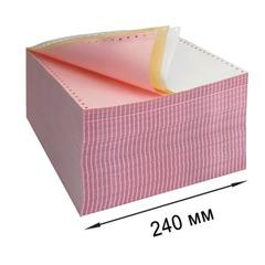 """Бумага с отрывной перфорацией, самокопирующая, цветная, 240х305 (12""""), 3-х слойная (600 комплектов)"""