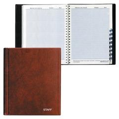 Телефонная книжка, А5, 160х204 мм, 80 л., STAFF, ВЫРУБНОЙ АЛФАВИТ, обложка ПВХ, евроспираль