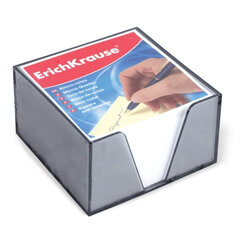 Блок для записей ERICH KRAUSE в подставке прозрачной, куб 9х9х5, белый