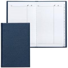 """Телефонная книжка А5, 136х202 мм, 96 л., BRAUBERG (БРАУБЕРГ), вырубной алфавит, """"Favorite"""", под классическую кожу, темно-синяя"""