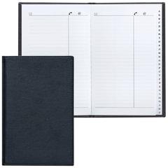 """Телефонная книжка А5, 136х202 мм, 96 л., BRAUBERG (БРАУБЕРГ), вырубной алфавит, """"Favorite"""", под классическую кожу, черная"""