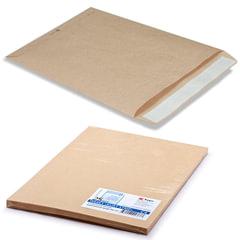 Конверт-пакет С4 плоский, комплект 25 шт., 229х324 мм, отрывная полоса, крафт-бумага, коричневый, на 90 листов