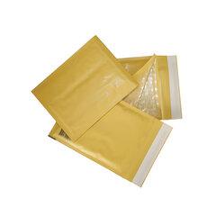 Конверт-пакет с прослойкой из пузырчатой пленки, комплект 10 шт., 150х210 мм, отрывная полоса, крафт-бумага, коричневый