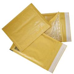 Конверт-пакет с прослойкой из пузырчатой пленки, комплект 10 шт., 240х330 мм, отрывная полоса, крафт-бумага, коричневый