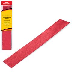 Цветная бумага крепированная BRAUBERG (БРАУБЕРГ), металлик, растяжение до 35%, 50 г/м2, европодвес, красная, 50х100 см