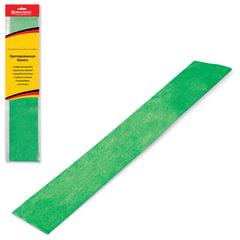 Цветная бумага крепированная BRAUBERG (БРАУБЕРГ), металлик, растяжение до 35%, 50 г/м2, европодвес, зеленая, 50х100 см