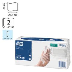 Полотенца бумажные 120 шт., TORK (Система H3) Advanced, 2-х слойные, белые, 24х27,5 см, Singlefold, 471114