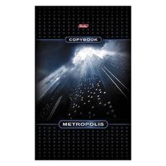 """Блокнот А5, 48 л., скоба, мелованный картон обложка, HATBER, """"Метрополис"""", 135х205 мм"""