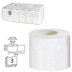 Бумага туалетная 20 м, VEIRO Professional Premium, комплект 48 шт., 3-х слойная, диспенсер 601826