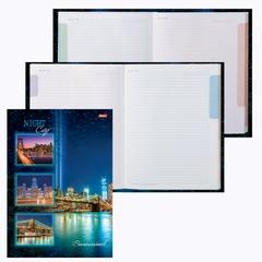 """Блокнот 7БЦ, А4, 120 л., обложка ламинированная, 5-цветный блок, HATBER, """"Ночной город"""", 120ББ4B1 12523"""