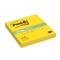 "Блок самоклеящиеся (стикер) POST-IT Optima ""Лето"", 76х76 мм, 100 л., желтый неон"