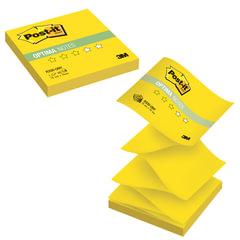 "Блок самоклеящиеся (стикер) POST-IT Optima ""Лето"" (Z-блок), 76х76 мм, 100 л., желтый неон"
