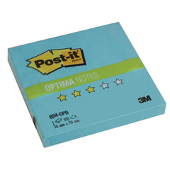 """Блок самоклеящиеся (стикер) POST-IT Optima """"Зима"""", 76х76 мм, 100 л., голубая пастель"""