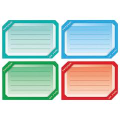 """Наклейка для тетрадей, HATBER, европодвес, комплект 16 шт., """"Цветная"""", 165х200 мм, Накл 14729"""
