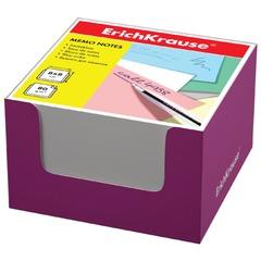 Блок для записей ERICH KRAUSE в подставке картонной розовой, куб, 8х8х5 см, белый