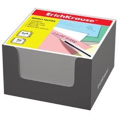 Блок для записей ERICH KRAUSE в подставке картонной серой, куб, 8х8х5 см, белый