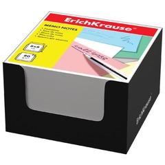 Блок для записей ERICH KRAUSE в подставке картонной черной, куб, 8х8х5 см, белый
