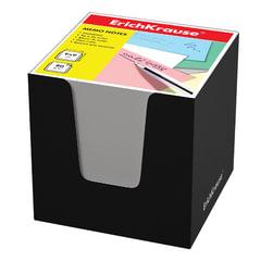 Блок для записей ERICH KRAUSE в подставке картонной черной, куб, 9х9х9 см, белый