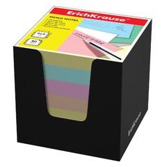 Блок для записей ERICH KRAUSE в подставке картонной черной, куб, 9х9х9 см, цветной