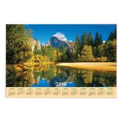 """Календарь А1 на 2017 г., HATBER, 90х60 см, горизонтальный, """"Озеро в горах"""""""