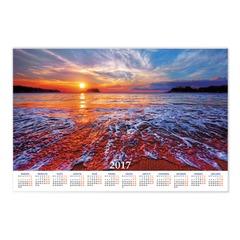 """Календарь А1 на 2017 г., HATBER, 90х60 см, горизонтальный, """"Прекрасный закат"""""""
