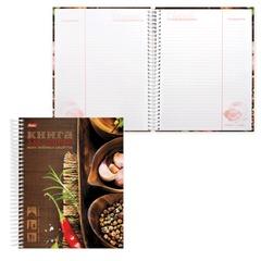"""Книга для кулинарных рецептов, А5, 80 л., HATBER, 7БЦ, спираль, 5 разделителей, """"Любимые рецепты"""""""