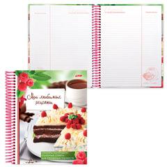 """Книга для кулинарных рецептов, А5, 80 л., HATBER, 7БЦ, спираль, 5 разделителей, """"Сладкие секреты"""""""