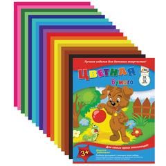Цветная бумага А4, 32 листа, 16 цветов, АППЛИКА, 200х260 мм