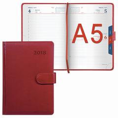 """Ежедневник датированный 2018, А5, GALANT """"Ritter"""", магнитная застежка, вырубной блок, красный, 148х218 мм"""