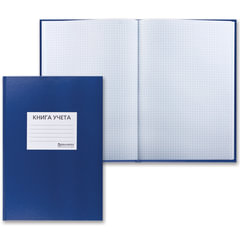 Книга учета 96 л., А4, 200х290 мм, BRAUBERG (БРАУБЕРГ), клетка, бумвинил с наклейкой ярлычка, блок офсет