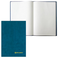 Книга учета 160 л., А4, 200х290 мм, BRAUBERG (БРАУБЕРГ), клетка, обложка твердая бумвинил, блок офсетный
