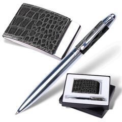 """Набор GALANT """"Prestige Collection"""": ручка, визитница, черный, """"кожа крокодила"""", подарочная коробка"""