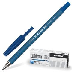 """Ручка шариковая ZEBRA """"Rubber 80"""", корпус каучуковый, толщина письма 0,7 мм, синяя"""