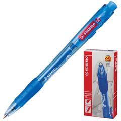 """Ручка шариковая STABILO автоматическая """"Marathon"""", корпус синий, толщина письма 0,3 мм, синяя"""