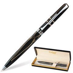 """Ручка шариковая GALANT """"Grindelwald"""", подарочная, корпус черный/золотистый, хромированные детали, синяя"""