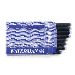 Картриджи чернильные WATERMAN, комплект 8 шт., синие