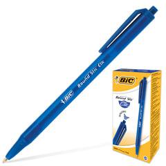 """Ручка шариковая BIC автоматическая """"Round Stic Clic"""" (Франция), корпус голубой, толщина письма 0,4 мм, синяя"""