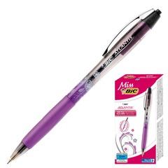 """Ручка шариковая BiC автоматическая """"Miss Bic Atlantis"""" (Франция), корпус двухцветный, резиновый держатель, 0,4 мм, синяя"""