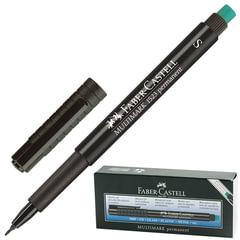 """Ручка капиллярная FABER-CASTELL """"Multimark"""", толщина письма 0,4 мм, корпус черный с резинкой, черный"""