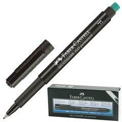 """Ручка капиллярная FABER-CASTELL """"Multimark"""", толщина письма 0,6 мм, корпус черный с резинкой, черный"""